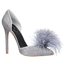 Buy Carvela Ghost Two Part Pom Court Shoes, Grey Online at johnlewis.com