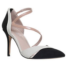 Buy Carvela Lunar Pointed Toe Court Shoes, Black/White Online at johnlewis.com