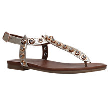 Buy Carvela Kave Embellished T-Bar Sandals, Gold Online at johnlewis.com