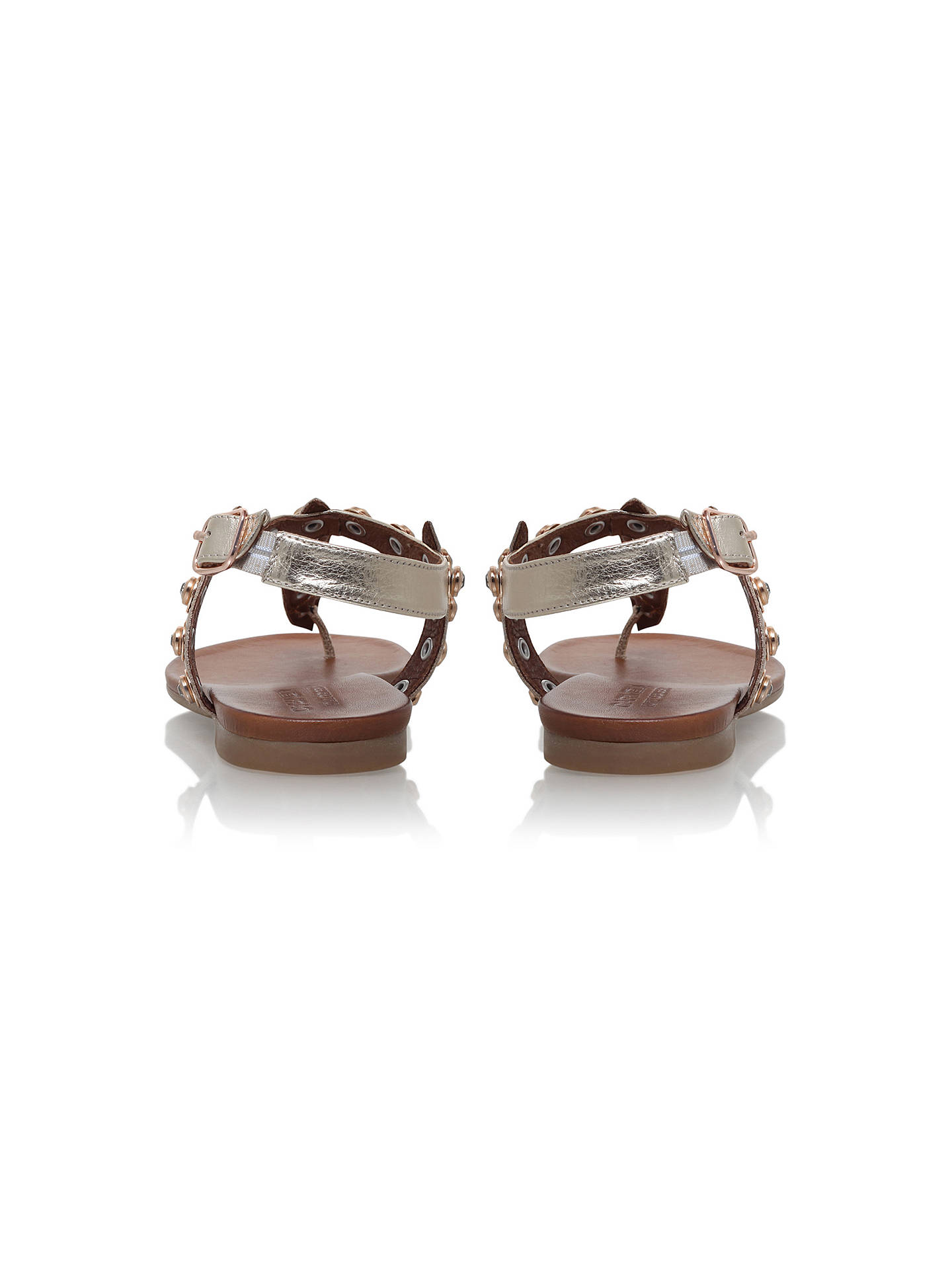 BuyCarvela Kave Embellished T-Bar Sandals, Gold, 3 Online at johnlewis.com