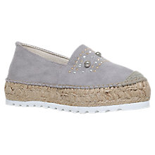 Buy Carvela Kory Jewelled Flatform Espadrilles, Grey Online at johnlewis.com