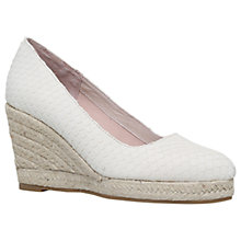 Buy Carvela Kenny Wedge Heeled Court Shoes, Cream Online at johnlewis.com