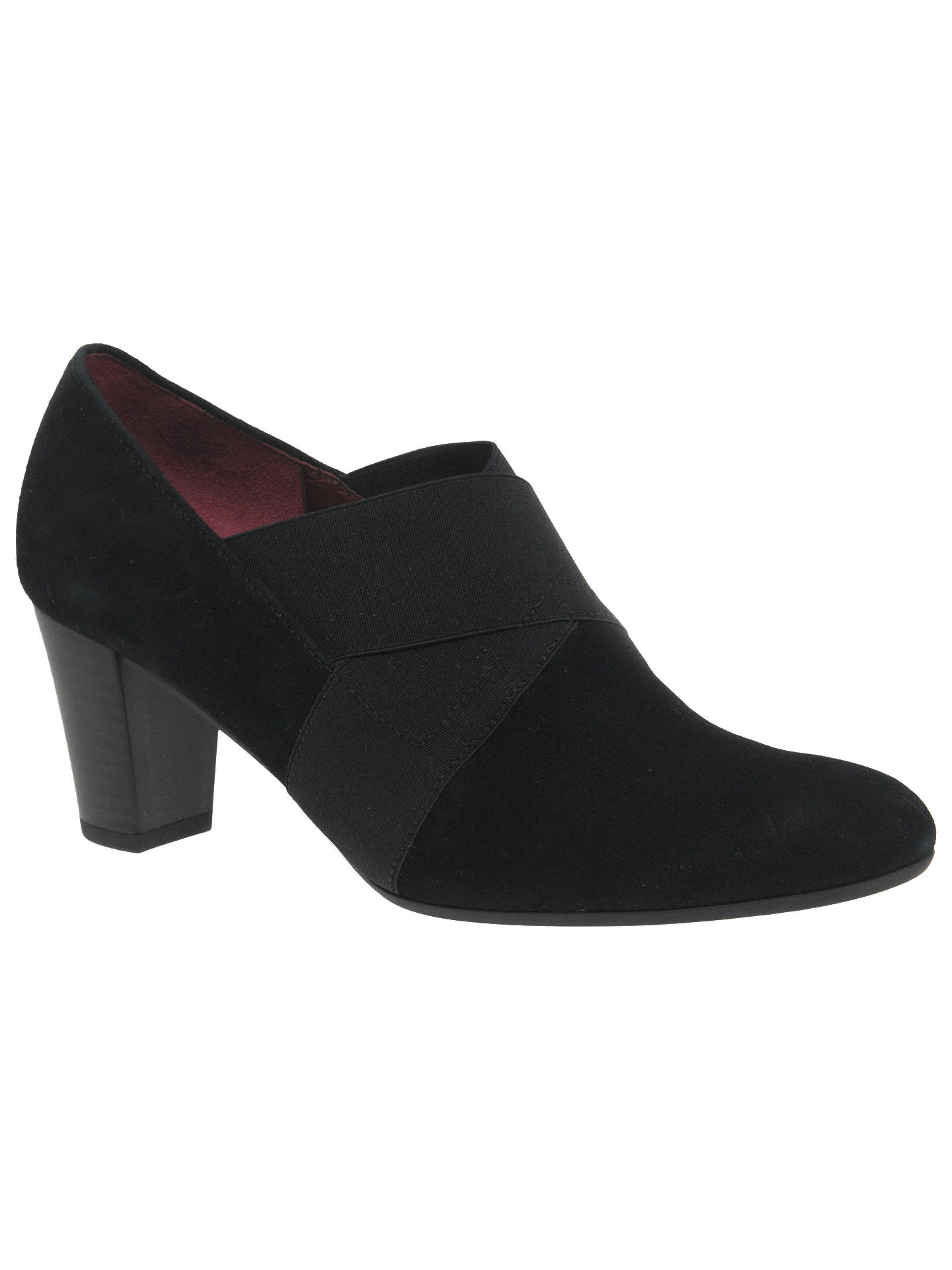 Gabor Function Wide Fit Closed Court Shoes Black At John
