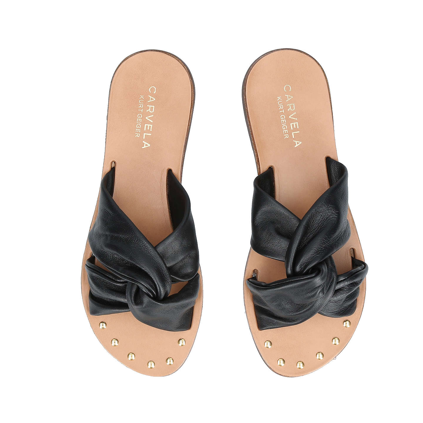 BuyCarvela Kreek Cross Strap Slider Sandals, Black, 3 Online at johnlewis.com