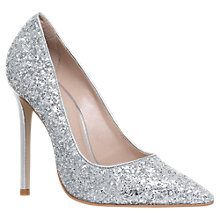Buy Carvela Alice Stiletto Heeled Court Shoe, Glitter Online at johnlewis.com