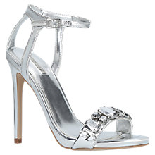 Buy Carvela Gail Occasion Jewelled Stiletto Sandals, Silver Online at johnlewis.com