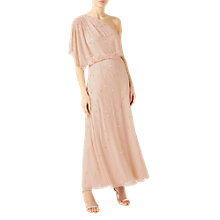 Buy Jacques Vert JVS One Shoulder Embellished Gown, Blush Online at johnlewis.com