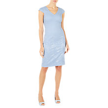 Buy Jacques Vert Gradual Textured Tailored Dress, Pastel Blue Online at johnlewis.com