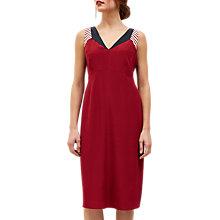 Buy Jaeger Silk Colour Block Panel Dress, Bordeaux Online at johnlewis.com