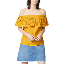Buy Warehouse Broderie Off Shoulder Top Online at johnlewis.com