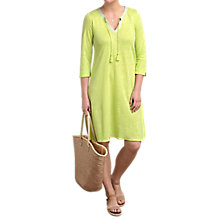 Buy Pure Collection Linen Jersey Tie Neck Dress Online at johnlewis.com