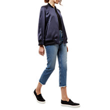 Buy Jaeger Zip Detail Bomber Jacket, Navy Online at johnlewis.com