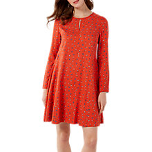 Buy White Stuff Fan Flower Swing Dress, Spring Red Online at johnlewis.com