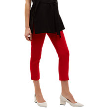 Buy Jaeger Slim Cigarette Trousers, Red Online at johnlewis.com
