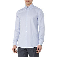 Buy Reiss Erith Large Collar Shirt, Soft Blue Online at johnlewis.com