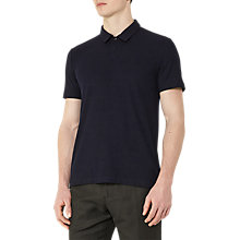 Buy Reiss Charlton Ribbed Polo Shirt, Navy Online at johnlewis.com