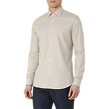 Buy Reiss Baresi Textured Cotton Shirt, Camel Online at johnlewis.com
