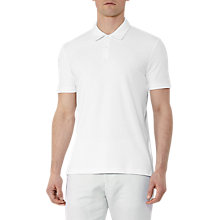 Buy Reiss Charlton Ribbed Polo Shirt, White Online at johnlewis.com