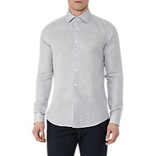 Buy Reiss Patrice Cotton Linen Shirt, Soft Grey Online at johnlewis.com