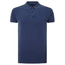 Buy Scotch & Soda Garment Dyed Cotton Polo Shirt, True Blue Online at johnlewis.com