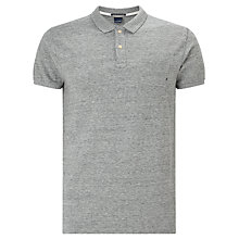 Buy Scotch & Soda Classic Garment Dyed Polo Shirt, Grey Online at johnlewis.com