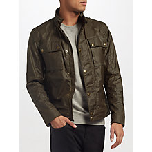 Buy Belstaff Racemaster Blouson Jacket, Faded Olive Online at johnlewis.com