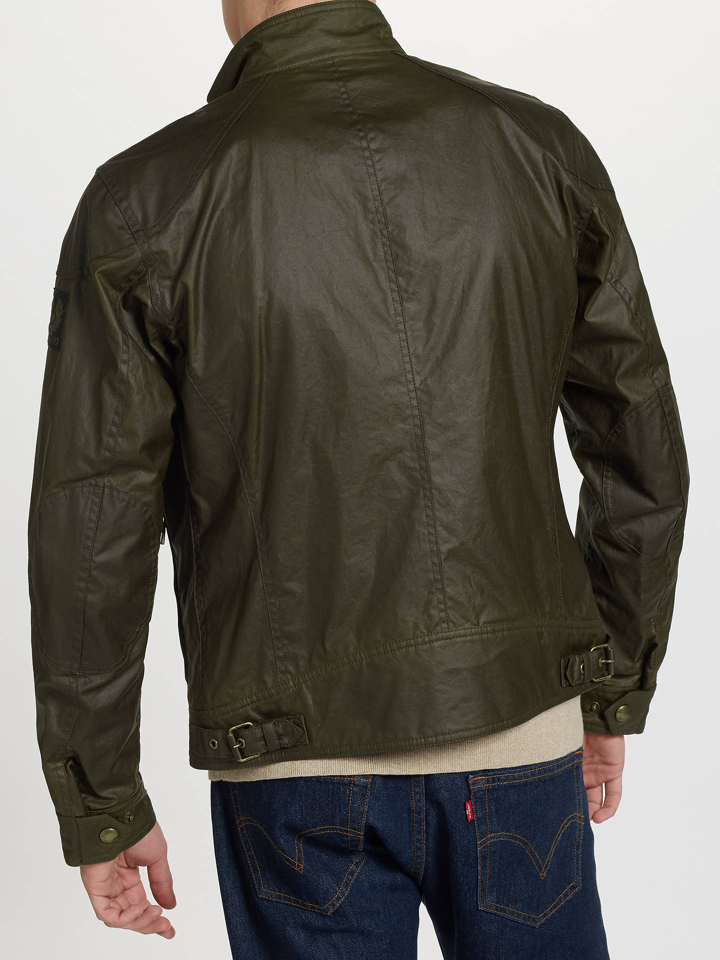 BuyBelstaff Racemaster Blouson Jacket, Faded Olive, 48L Online at johnlewis.com