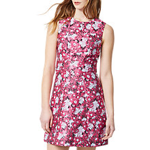 Buy Warehouse Floral Jacquard Dress, Pink Online at johnlewis.com