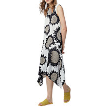 Buy Warehouse Sunflower Hanky Hem Dress, Natural Online at johnlewis.com