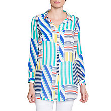 Buy East Martina Silk Print Shirt, Multi Online at johnlewis.com