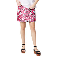 Buy Warehouse Aster Jacquard Floral Skirt, Pink Pattern Online at johnlewis.com