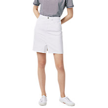 Buy Warehouse Denim Split Front Skirt Online at johnlewis.com