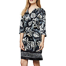 Buy East Silk Simone Print Tunic Dress, Navy Online at johnlewis.com