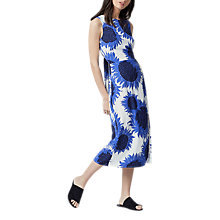 Buy Warehouse Sunflower Tie Back Dress, Blue Online at johnlewis.com