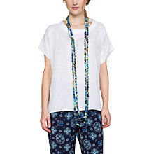 Buy East Bardot Neck Top, White Online at johnlewis.com