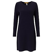 Buy BOSS Orange Wyomai Textured Knitted Dress, Dark Blue Online at johnlewis.com