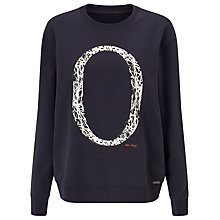 Buy BOSS Orange Tapro Logo Sweater, Dark Blue Online at johnlewis.com