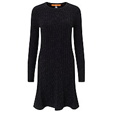 Buy BOSS Orange Willabelle Knitted Dress, Black Online at johnlewis.com