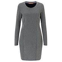Buy BOSS Orange Dadress Knitted Dress, Medium Grey Online at johnlewis.com