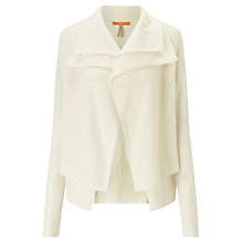 Buy BOSS Orange Wijay Double Front Cardigan, Open White Online at johnlewis.com