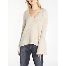 Buy AND/OR Fluted Cuff Jumper, Oatmeal Online at johnlewis.com