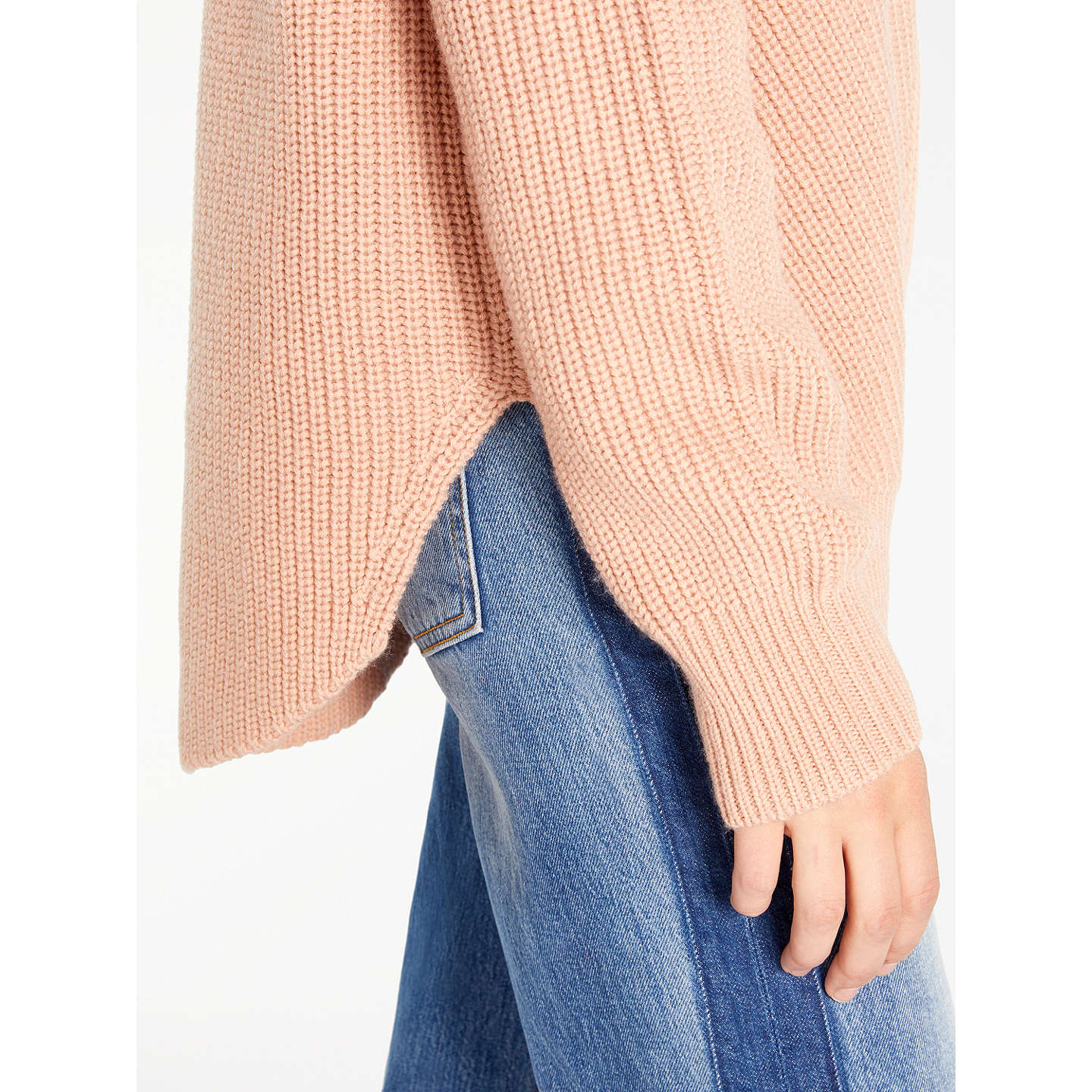 BuyAND/OR Lindsey Rib Stitch Jumper, Blush, 8 Online at johnlewis.com