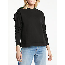 Buy AND/OR Stella Sweatshirt, Black Online at johnlewis.com