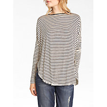Buy AND/OR Uhla Cape Top, Cream/Black Online at johnlewis.com