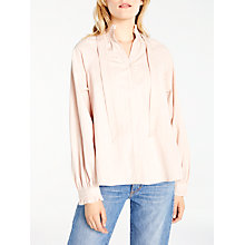 Buy AND/OR Josephine Blouse, Blush Online at johnlewis.com
