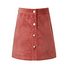Buy John Lewis Girls' Moleskin Skirt, Sorbet Online at johnlewis.com
