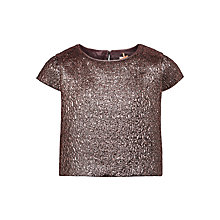 Buy John Lewis Heirloom Collection Girls' Jacquard Top, Gold Online at johnlewis.com
