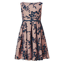 Buy John Lewis Heirloom Collection Girls' Lace Overlay Dress, Gold Online at johnlewis.com