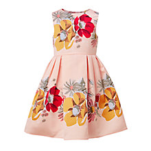Buy John Lewis Heirloom Collection Girls' Large Floral Print Dress, Evening Sand Online at johnlewis.com