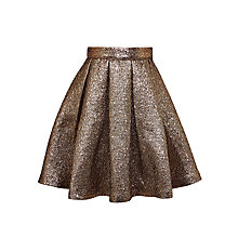 Buy John Lewis Heirloom Collection Girls' Jacquard Skirt, Gold Online at johnlewis.com